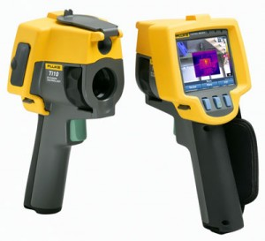 Image of thermal imaging camera for detecting termites